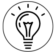 a lightbulb icon, published to IT business strategy - consultation, development, results