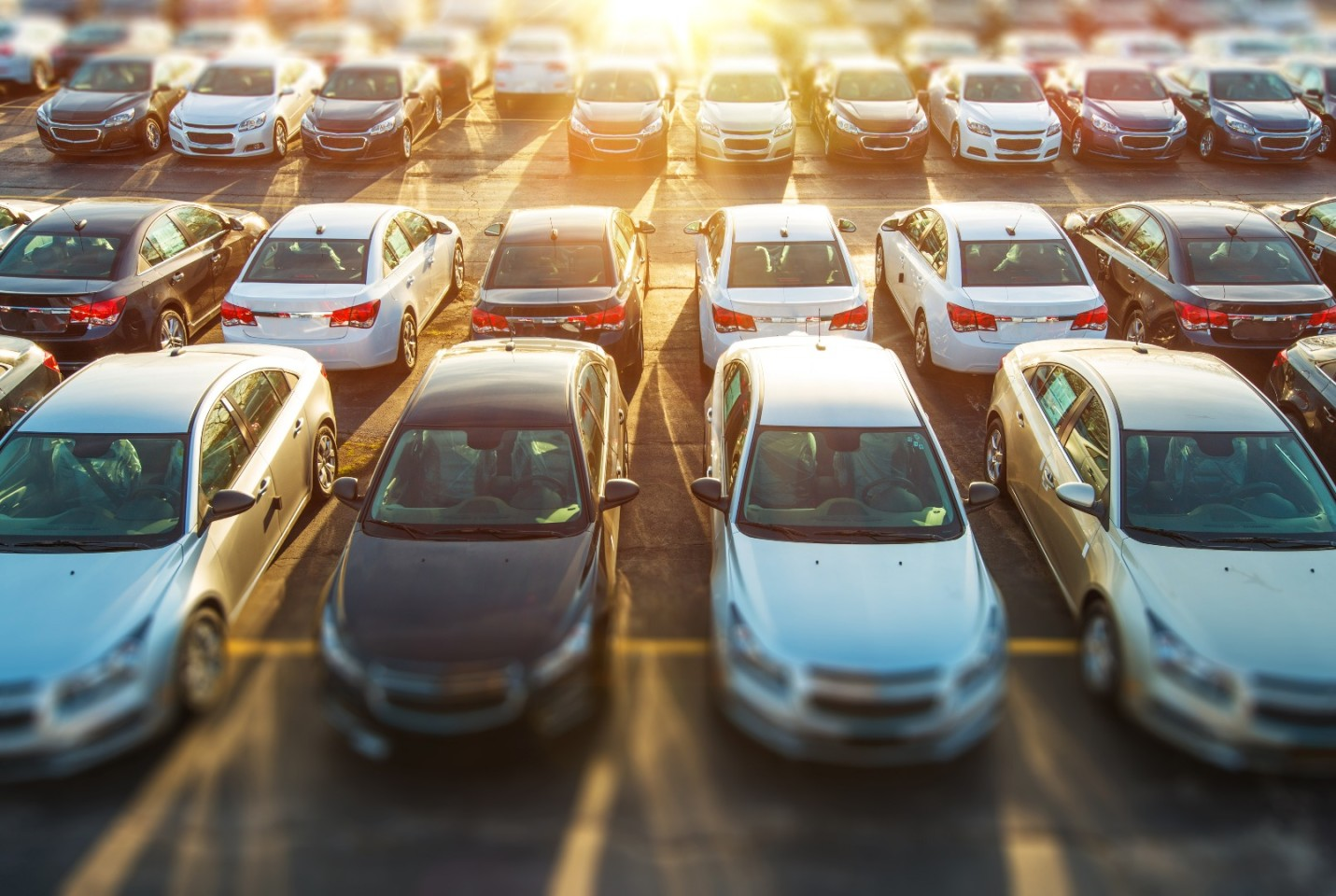 """A photo of cars in a parking lot, published to """"GestYOCar, the Car Dealer Management Software that Guides You"""""""