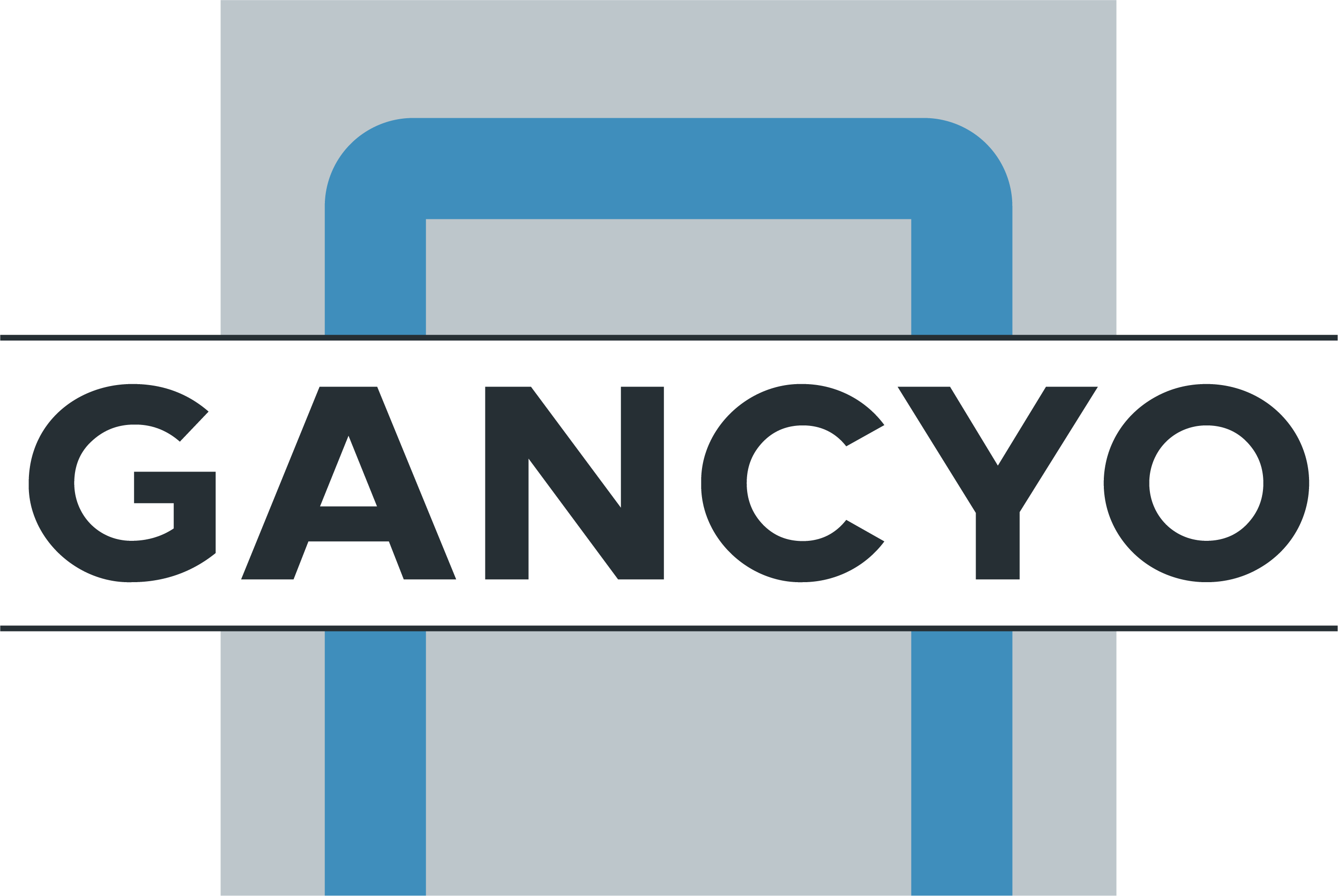 """The GancYO logo, published to """"GancYo, Your Complete Key Management System"""""""